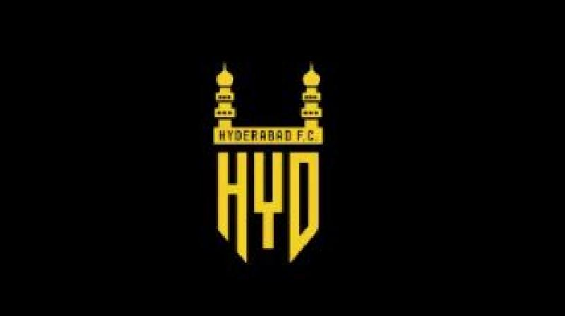 The logo of Hyderabad FC embodies the city's heritage with the minarets of Charminar and the texture of the Kohinoor diamond. (Photo: Twitter)