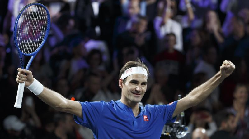 The 20-time Grand Slam champion, Roger Federer who won his first match alongside Alexander Zverev in Friday's doubles tie, beat Australian Kyrgios 6-7 (5/7), 7-5, 10-7 to the delight of his 17,000-strong home crowd. (Photo: AP/PTI)
