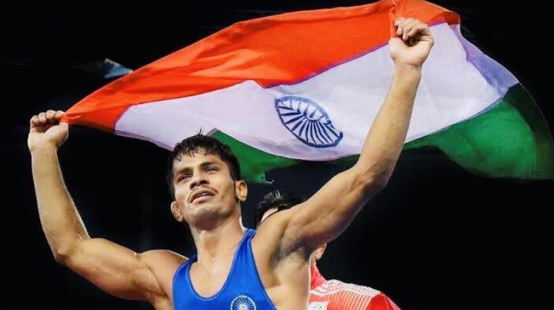 This was not an Olympic category and as a result, Rahul Aware has not qualified for the 2020 Tokyo Olympics. (Photo: Twitter/SAI Media)