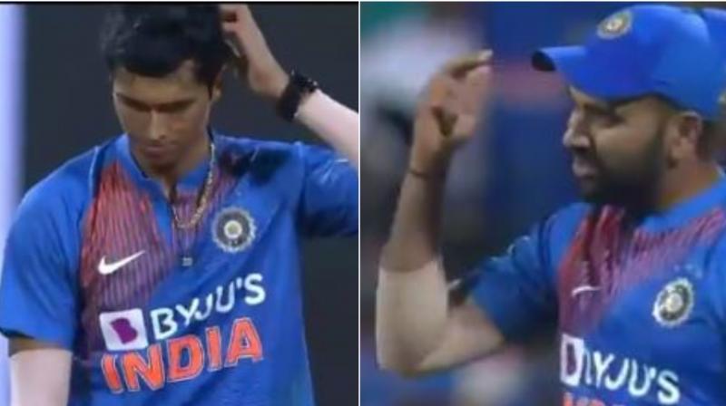 Rohit Sharma loses cool, tells Navdeep Saini to use his head: watch