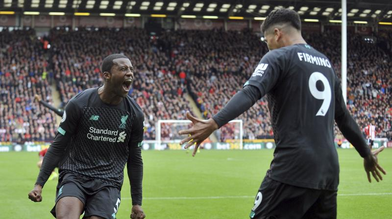 Liverpool manager Juergen Klopp praised Georginio Wijnaldum saying that the 28-year-old has 'all the things you need' in a good footballer.  (Photo: AP)