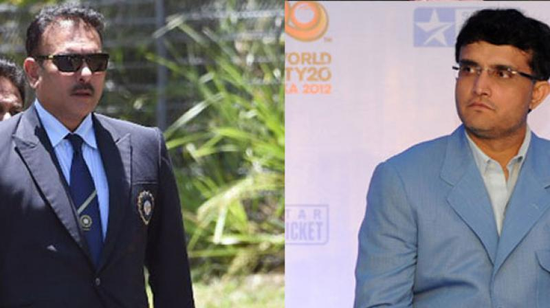 Sourav Ganguly believes that Ravi Shastri should repay the faith instilled in him by the board by winning some major trophies, something that he has not done until now. (Photo: AFP)