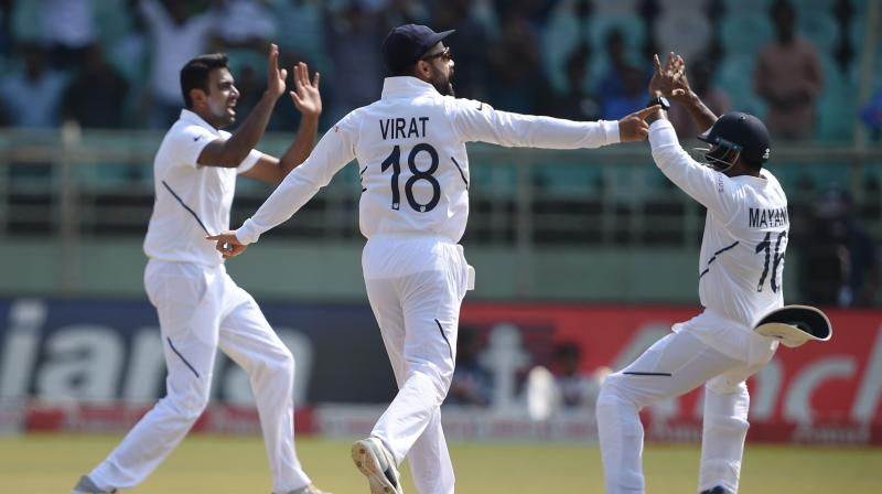 India is in a dominating position in the match as South Africa has lost eight wickets and still requires 278 runs to win the match. (Photo: PTI)