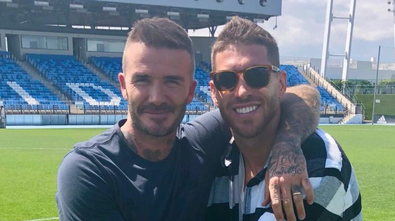David Beckham took to Instagram and posted a video congratulating the 33-year-old Sergio Ramos. (Photo: Twitter/ Sergio Ramos)