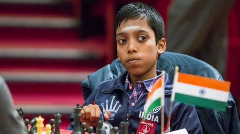 Praggnanandhaa scored an impressive and unbeaten 9/11 and he ended with a performance rating over 2700. (Photo: Twitter/Chess.com India)