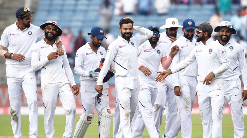 With this victory, India also took a 2-0 lead over South Africa in the three-match Test series. (Photo :PTI)