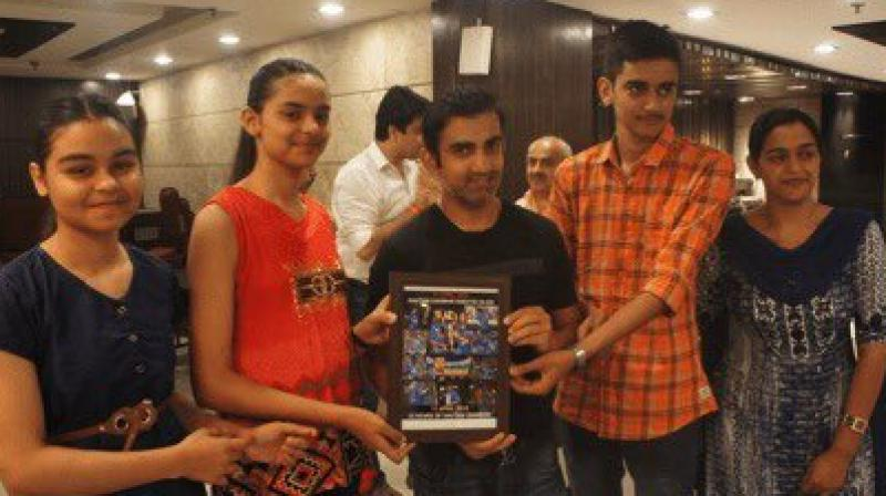 Gautam Gambhir's GG Foundation aims at supporting children of slain armed personnel and providing post-trauma counselling and 100 per cent funding of education of intervened children. (Photo :Twitter/ Gautam Gambhir)