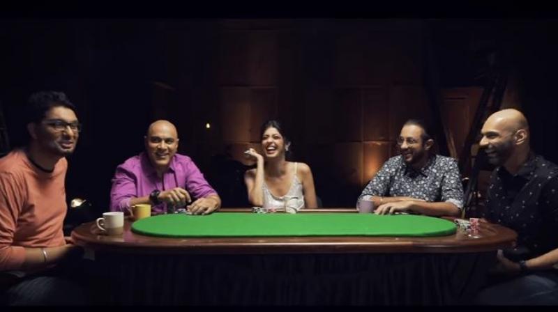 The 1st episode of the series features composer and rapper Baba Sehgal, actor Aishwarya Sakhuja, professional poker player Abhishek Goindi and comedians Karan Talwar and Gursimran Khamba. (Photo: Screenshot/ SnG Youtube)
