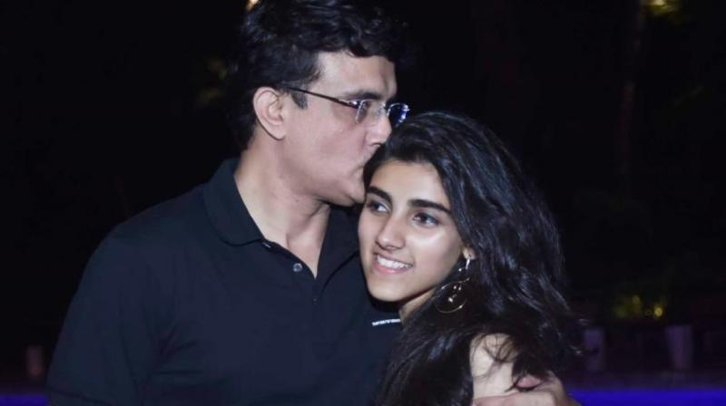 Sourav Ganguly with daughter Sana Ganguly. (Photo: Twitter/ Sourav Ganguly)