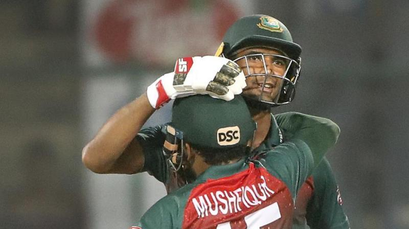 Bangladesh captain Mahmudullah Riyad is also on the verge of creating history as he is just two sixes away from hitting a half-century of sixes in T20I. (Photo: AP)
