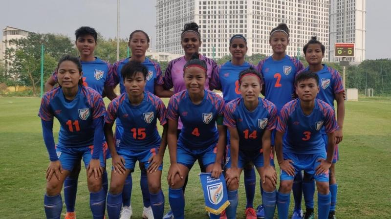 Thai Thi Thao put the hosts in the lead in the 39th minute at the National Training Centre ground before India came back strongly in the second half to equalise through Ranjana Chanu in the 57th minute. (Photo: Twitter./ Indian Football)