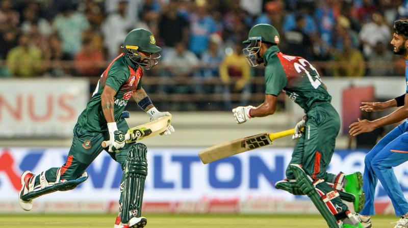 At one point, it looked as if the Bangladeshi would cross 200, but the Indian duo Yuzvendra Chahal and Washington Sundar did well to reel them into a low total. (Photo: AFP)
