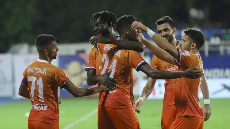 FC Goa returned to winning ways and climbed to the top of the Hero Indian Super League table with a 4-2 win against Mumbai City FC. (Photo: Twitter/ FC Goa)
