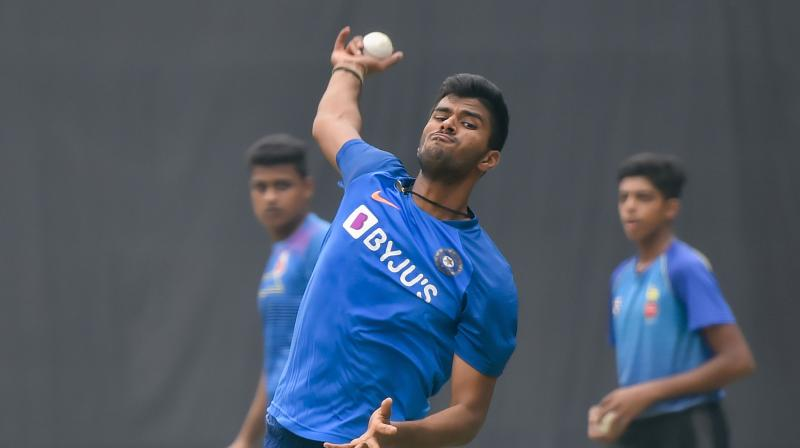 The spin duo of Yuzvendra Chahal (2/28) and Washington Sundar (1/25) played a big role in stemming the run flow after Bangladesh got off to a bright start by reaching 60 for no loss in seven overs. (Photo: PTI)