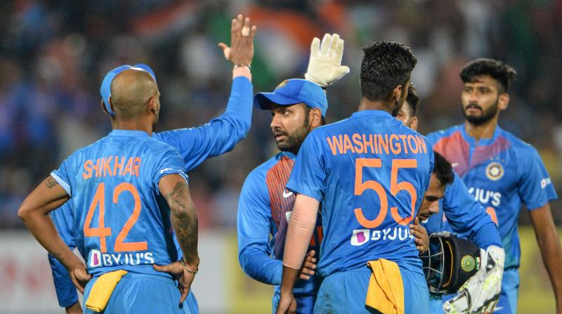 Before the match, there was a shadow of doubt over the Rohit Sharma-led Indian side, but all of those doubts were cast aside after the Men in Blue convincingly won the second T20I. (Photo: AFP)