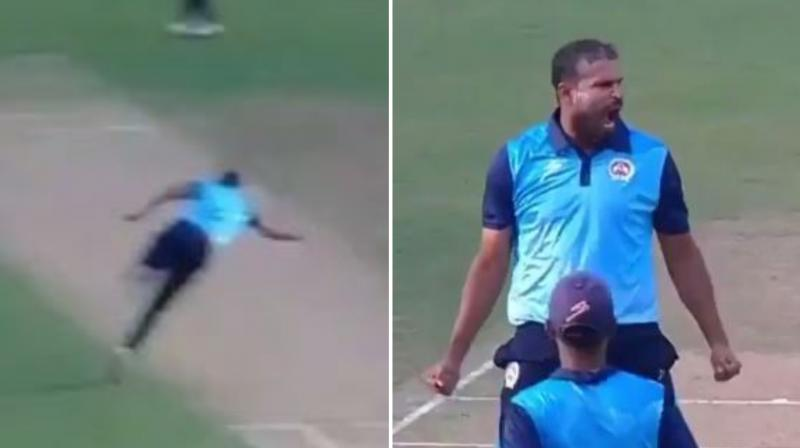 Even Afghanistan's Rashid Khan hailed Yusuf Pathan for the catch calling it an absolute stunner. (Photo: Twitter screenshot)