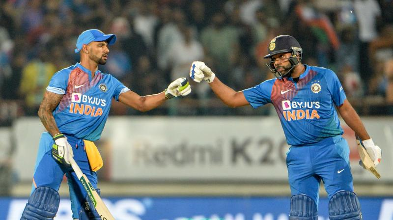 After Chahal and Co. restricted Bangladesh to 153 for six in Rajkot, skipper Rohit Sharma blew the opposition away with a sublime 85 to level the series 1-1. (Photo: AFP)
