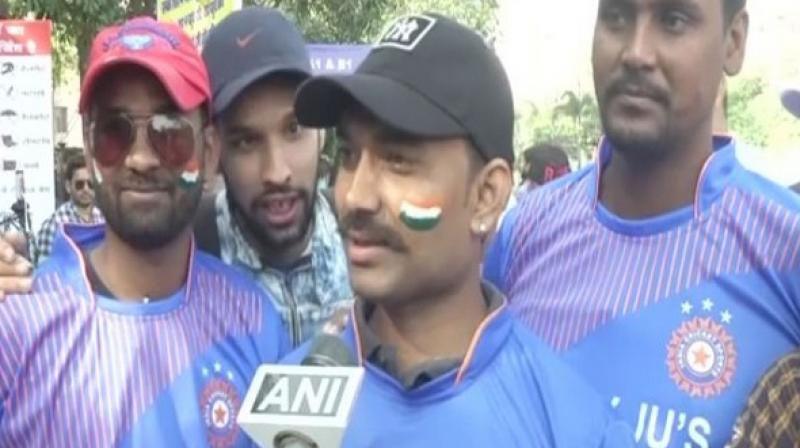 'India did not allow Bangladesh batsmen to settle down and took wickets at regular intervals,' said Mukesh Soni a fan, who came to see the match. (Photo: ANI)