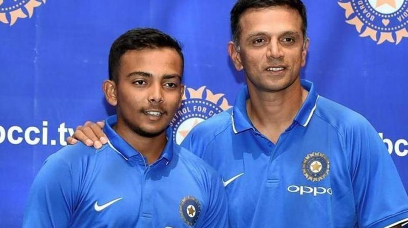 After Prithvi Shaw's arrival from London, Rahul Dravid had called him to NCA to train. (Photo: BCCI)