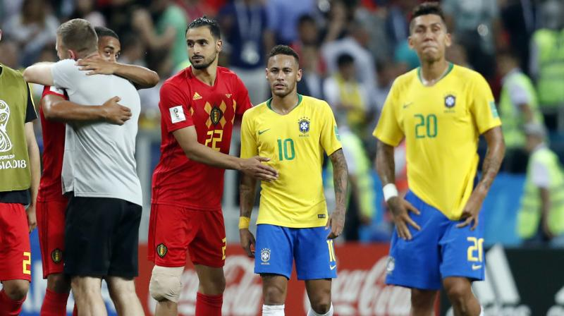 Neymar's Brazil crashed out of the World Cup on Friday, failing to erase the pain of their humiliation on home soil four years ago as Belgium beat them 2-1 to set up a semi-final against France. (Photo: AP)