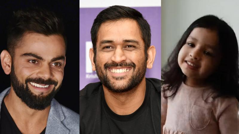 In a special video posted by BCCI, the Indian cricket team members – Virat Kohli, Rohit Sharma and others – wished the Captain Cool. However, it was Ziva, who stole the show with her adorable wish for her daddy. (Photo: PTI / Screengrab)