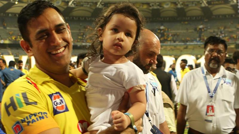 Ziva was constant during this IPL, accompanying Dhoni to a lot of matches and being a part of his post-game celebrations. (Photo: BCCI)