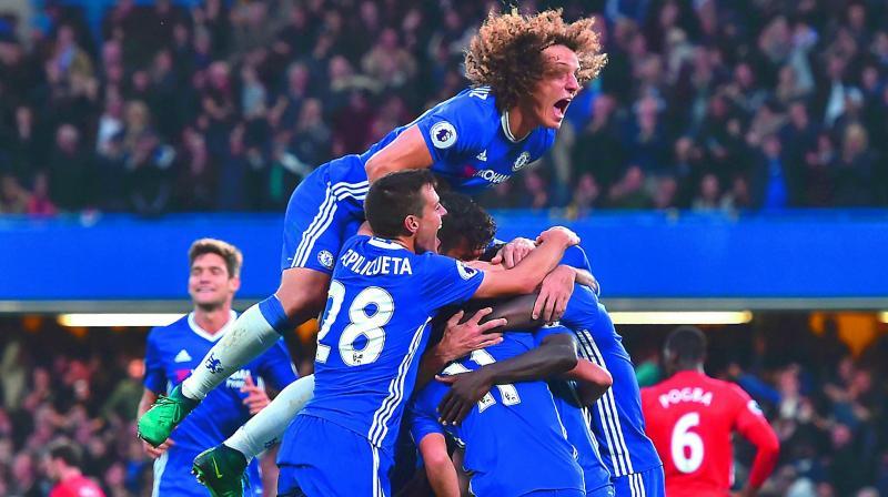 Chelsea Smash Manchester United For 4 Mock Mourinho