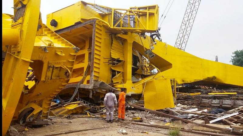 11 killed as crane collapses at Hindustan Shipyard in Vizag