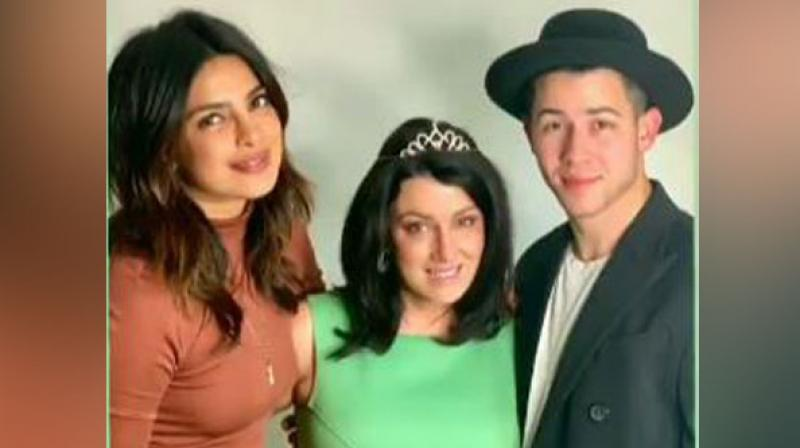 Priyanka Chopra with Denise Jonas and Nick Jonas. (Photo: ANI/Instagram)