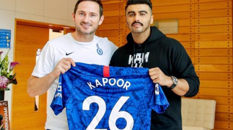 Frank Lampard and Arjun Kapoor (Photo: Arjun Kapoor/Twitter)