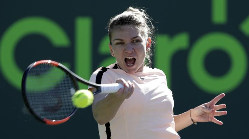 No. 1 Halep avoids Miami meltdown