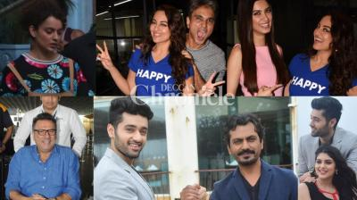 Bollywood stars were clicked by the cameras as they stepped out for professional and personal reasons in Mumbai on Friday. (Photos: Viral Bhayani)