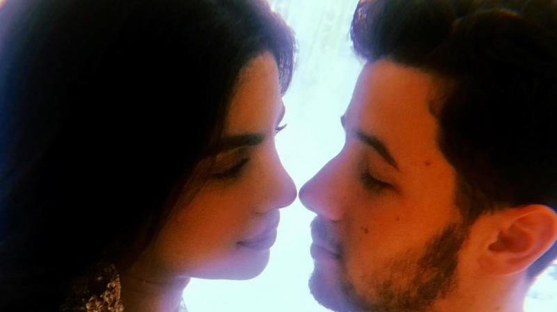 Priyanka Chopra and Nick Jonas at their 'roka' ceremony in Mumbai in August. (Courtesy: Instagram/priyankachopra)