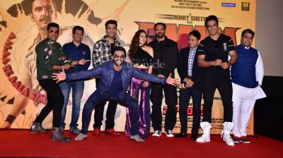 Simmba trailer was unveiled on Monday, a few days after Ranveer Singh got married to his ladylove Deepika Padukone, and as one can see, he was all over the place!