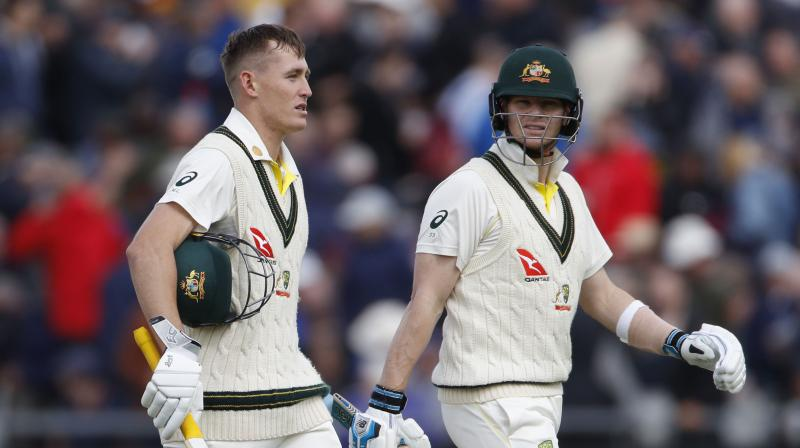 Steve Smith joined Labuschagne in the middle and built a partnership of 116 runs for the third wicket. (Photo: AP)