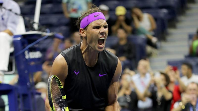 After winning the first two sets, Nadal did not waste time in wrapping up the third set and he won it 6-2. (Photo: AFP)