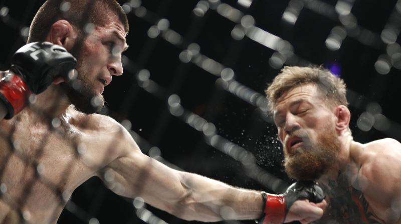 """Khabib adds he doesn't know how he would react when he sees the Irish fighter next, saying """"who are we not to forgive one another when the Almighty forgives us?""""(Photo: AP)"""