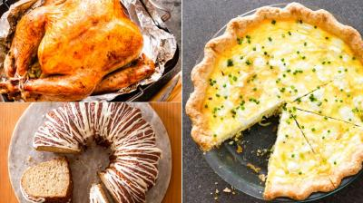 From roast turkey to quiche and cakes, here are food shots to tantalise you. (Photo: AP)