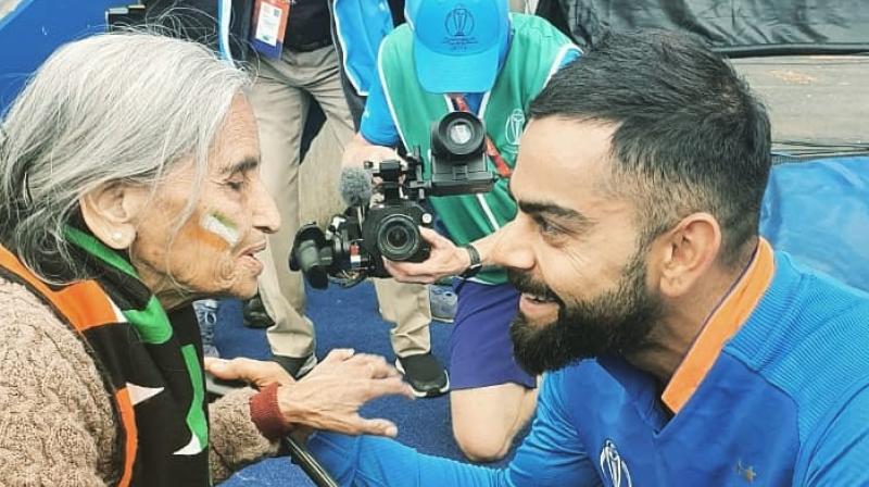 India captain Virat Kohli had promised Patel to provide her with the tickets of the remainder of the tournament. (Photo: Virat Kohli/Twitter)