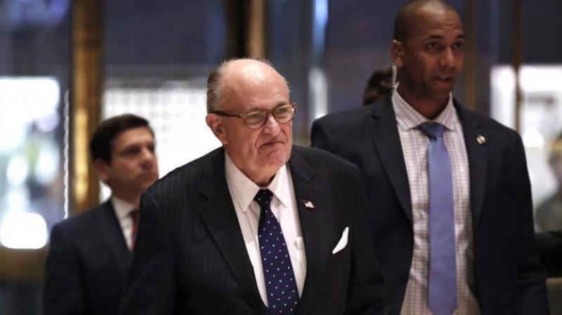 Former New York mayor Giuliani succeeded Michael Cohen as the new personal attorney for Trump. (Photo: AP)