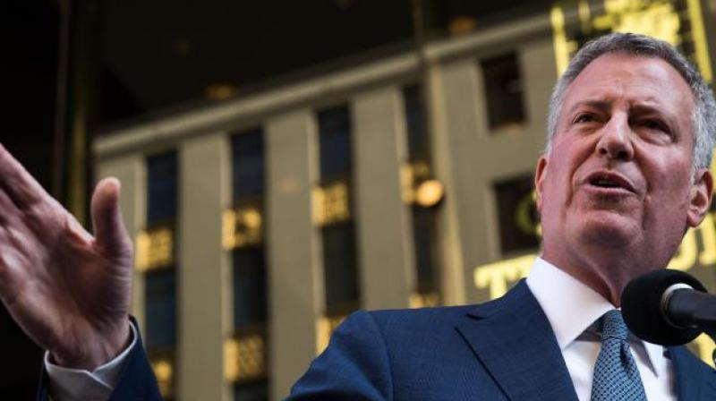 Progressive Democrat Bill de Blasio cruised to re-election for a second term as mayor of New York. (Photo: AFP)