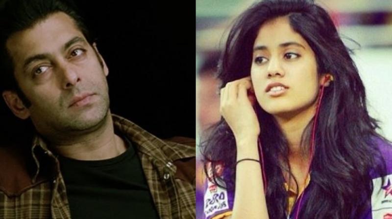Salman Khan and Janhvi Kapoor.