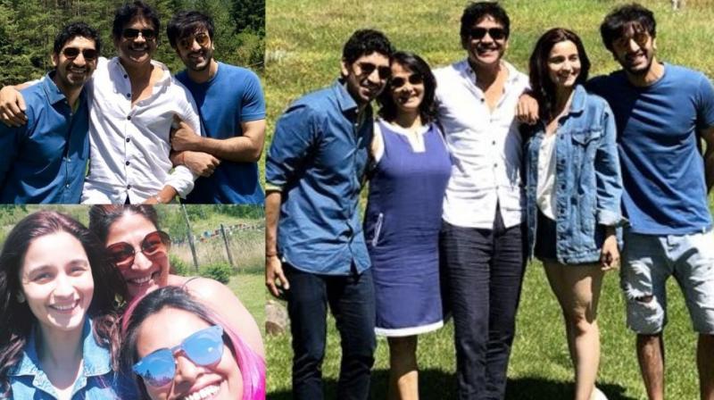 Pictures of Nagarjuna, Amala Akkineni, Ranbir Kapoor, Alia Bhatt and Ayan Mukerji in Bulgaria.