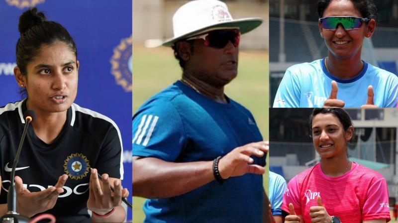 The acrimonious end to coach Ramesh Powar's tenure Monday split the Indian women's cricket team with T20 captain Harmanpreet Kaur and her deputy Smriti Mandhana demanding his return despite senior player Mithali Raj's fallout with him. (Photo: PTI / Twitter)