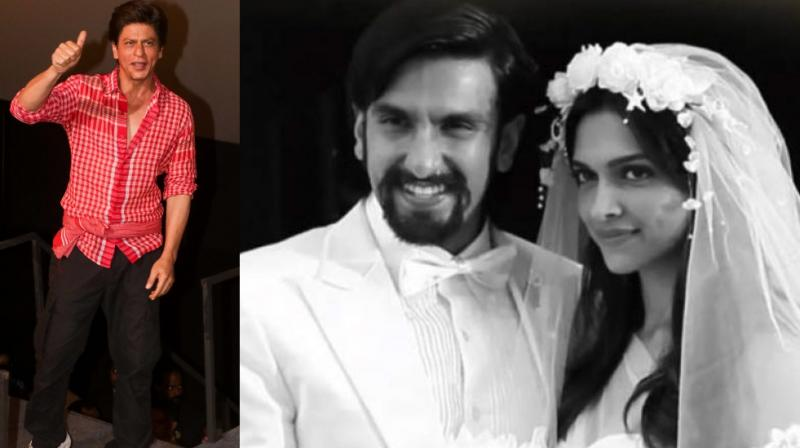 Shah Rukh Khan at Zero trailer launch; Deepika Padukone and Ranveer Singh in a still from 'Finding Fanny'.