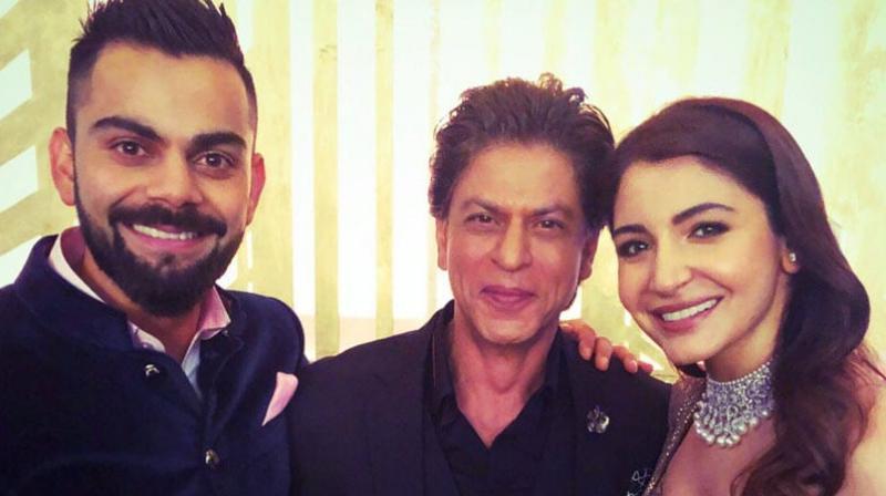 Shah Rukh Khan at Anushka Sharma and Virat Kohli's wedding.