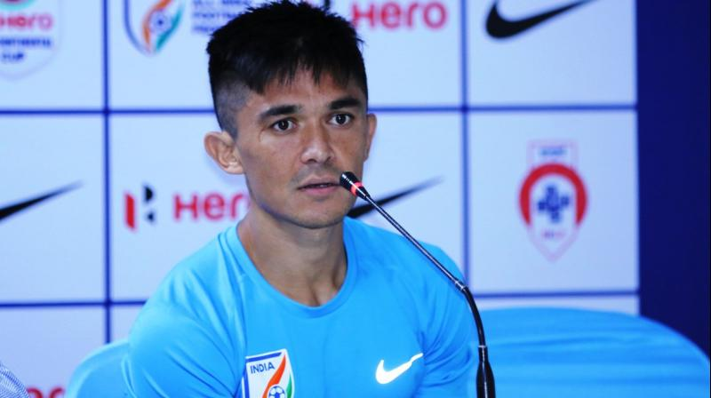 India will face Kenya on June 4, which will incidentally be Chhetri's 100th international match. (Photo: AIFF)