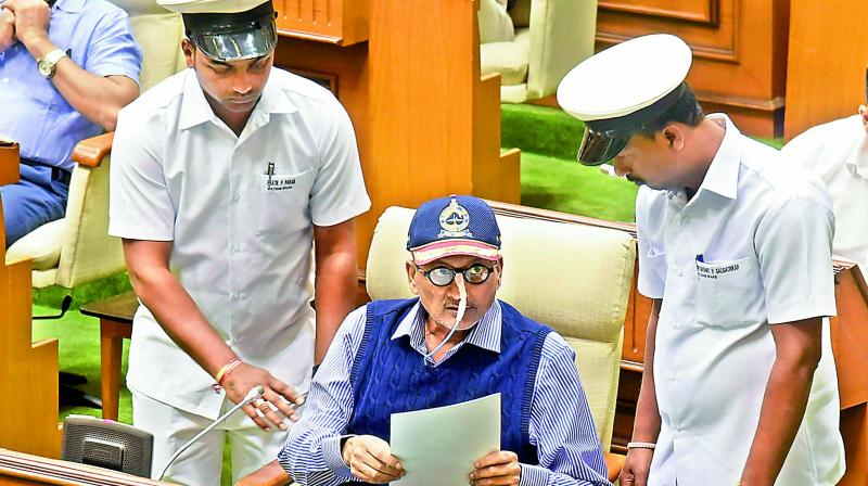 On March 4, Goa Cabinet Minister Vijay Sardesai had announced that Parrikar is suffering from 'advanced-stage cancer.' (Photo: PTI)