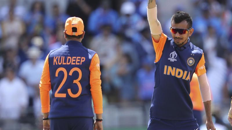 Kuldeep and Chahal, India's famed wrist spin duo, were hammered for 160 runs in their combined 20 overs on Sunday, with the Haryana leg-spinner's 0/88 in 10 overs being the worst figures by an Indian bowler in the World Cup.  (Photo:AFP)
