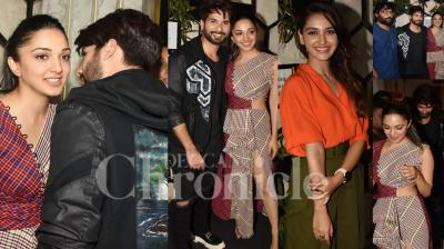 On Thursday night, the makers of Kabir Singh had organised a success bash as the Sandeep Reddy Vanga's film crossed Rs 200 crore mark at the box-office. Kabir Singh actors like Shahid Kapoor, Kiara Advani, Arjan Bajwa, Sohum Majumdar and others celebrated success in all-night party at the swanky pub in Mumbai. (Photos: Viral Bhayani)